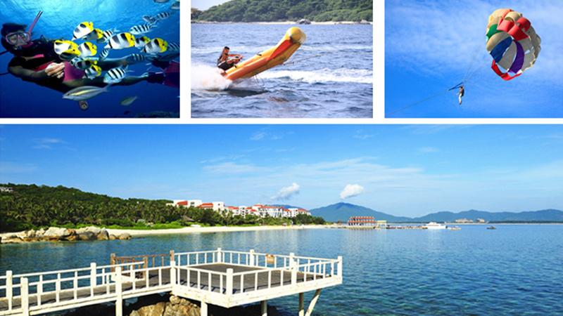 蜈支洲岛座落于三亚市北部的海棠湾内,是国内很好的潜水基地.
