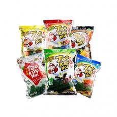 泰国进口休闲零食品 小老板脆紫菜炸海苔片 多口味即食紫菜36g*6