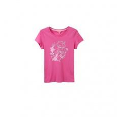 真维斯女装 2017春装新款 时尚圆领印花短袖T恤