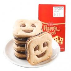 土耳其咔咔莎笑脸榛子巧克力味夹心饼干50g