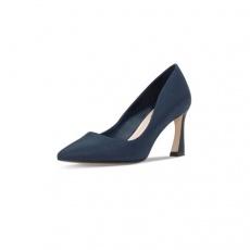 Charles&Keith女鞋高跟鞋CK1-60360864缎面通勤酒杯跟高跟鞋单鞋 深蓝色 38