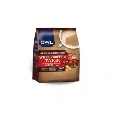 马来西亚进口OWL猫头鹰三合一拉白黄糖速溶咖啡600g